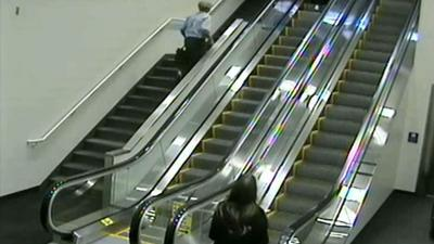 Alaska Airlines sued for wrongful death after elderly woman falls down escalator