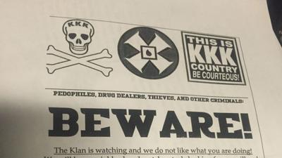 KKK flyers say they're watching neighbors in Kootenai County