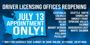 More driver licensing offices are reopening on Monday