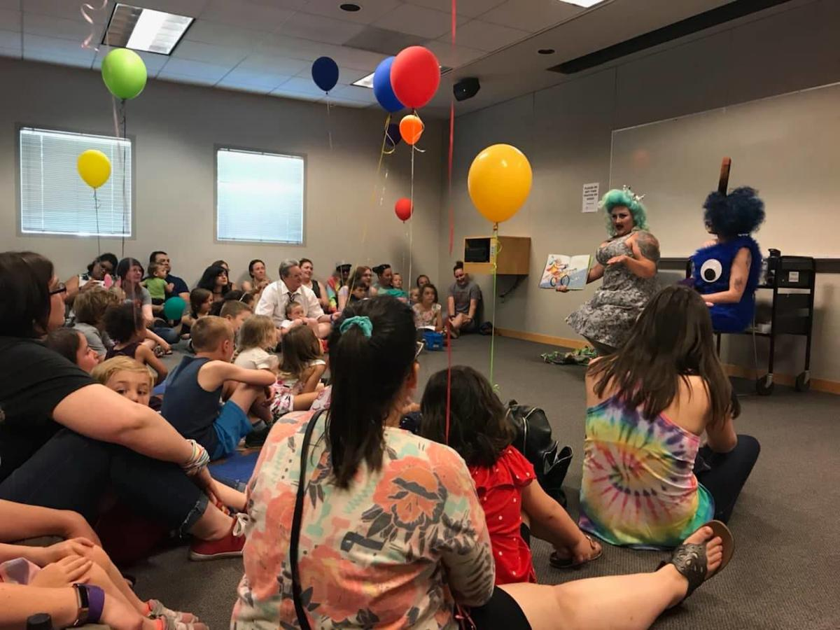 Drag Queen Story Hour at South Hill library June 15, 2019
