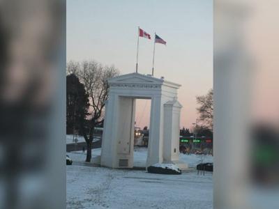 Peace Arch, Canadian Border, British Columbia