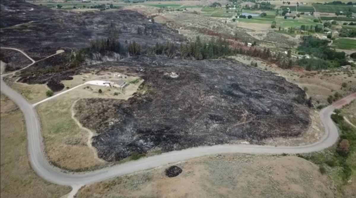 Swanson Mill Fire drone footage