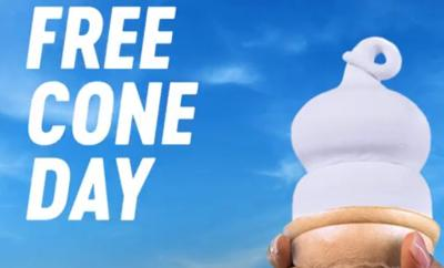 FREE ice cream cone at Dairy Queen TODAY!