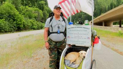 Florida Veteran Walks Over 2,000 Miles To Coeur d'Alene In Support of Wounded Warrior Project