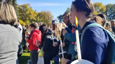 Gonzaga holds peace vigil in response to visit from hateful group