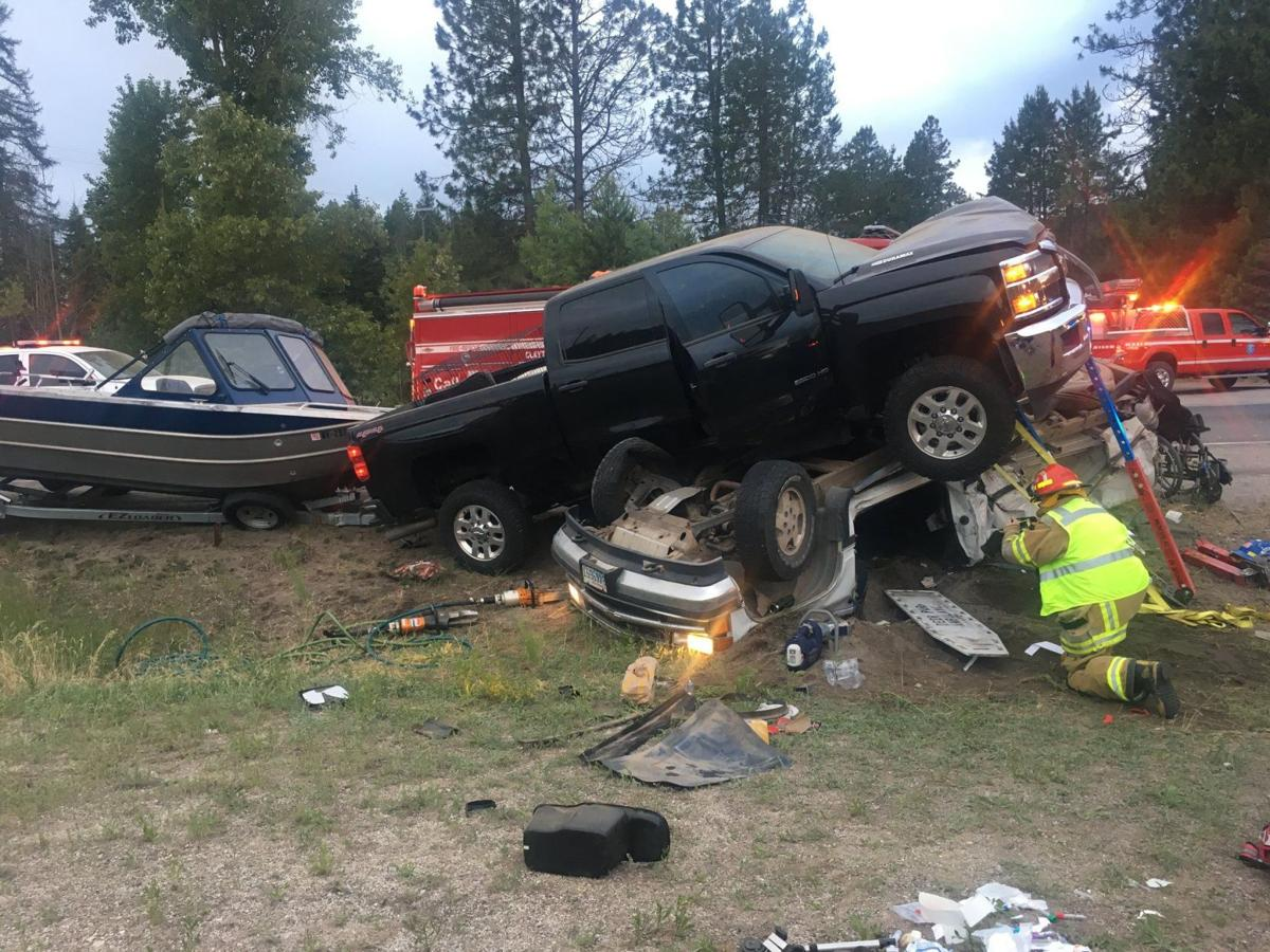 Driver charged with following too close in Highway 395 crash