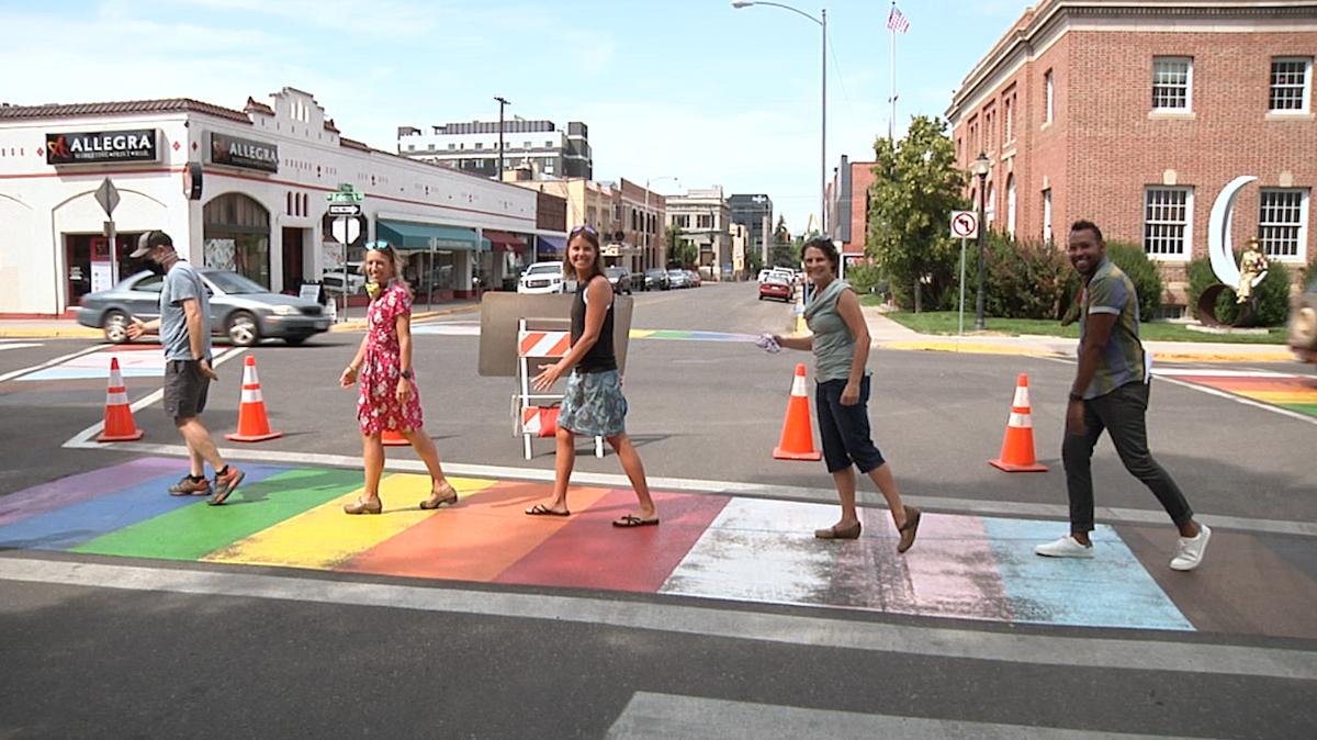 Bozeman rainbow crosswalk