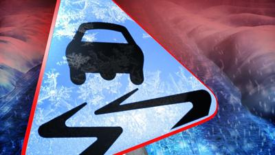 Slick road conditions for Malmstrom AFB