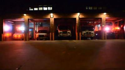 WATCH: Colorado fire station gets in holiday spirit with light show