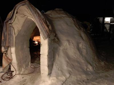 Holy WOW! Spokane brothers build legit igloo with fireplace