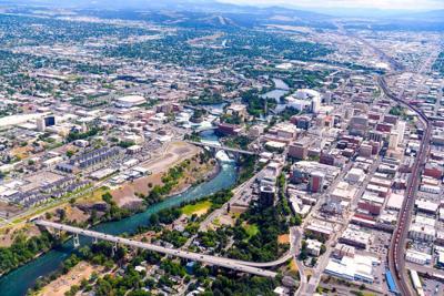 Spokane aerial view