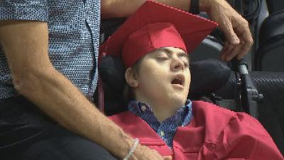 A very special day for one Ferris High School graduate