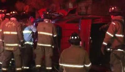 PHOTOS: DUI Rollover Crash On South Hill; Driver Arrested