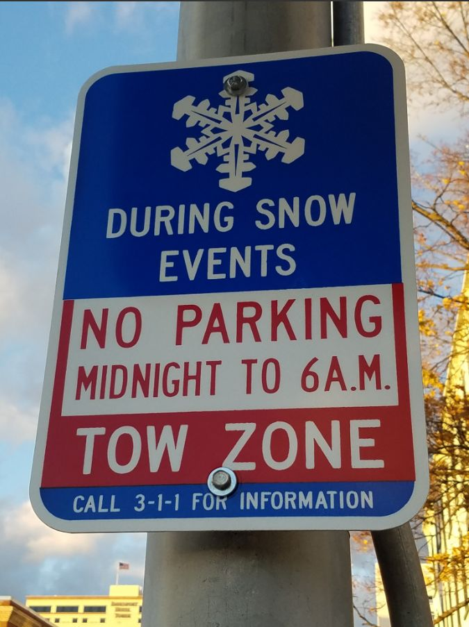 No parking during snow events