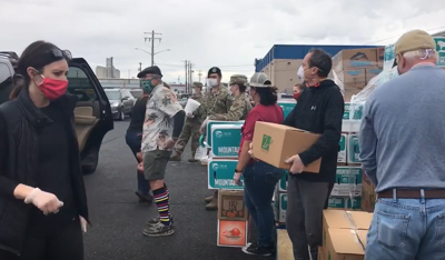Nearly 700 families receive food from Second Harvest during drive-thru distribution
