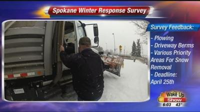 The City of Spokane wants your opinion on snow removal