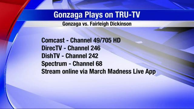 What channel is truTV? Where to watch Gonzaga vs  Fairleigh