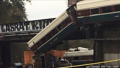 Amtrak derail crash I-5 2017