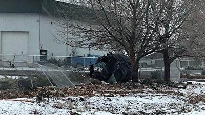 2 hospitalized after crashing car during police chase