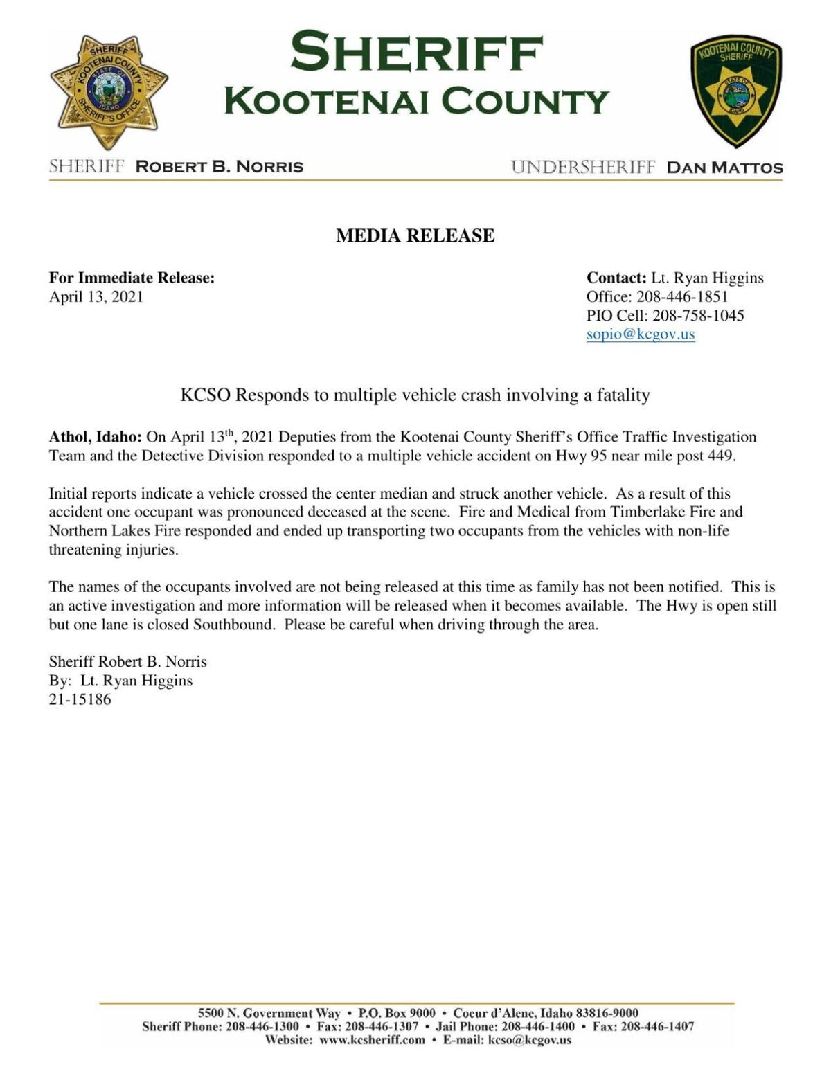 KCSO fatal accident
