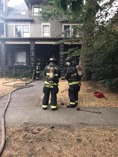 Crews working to extinguish laundry room fire in Brownes Addition