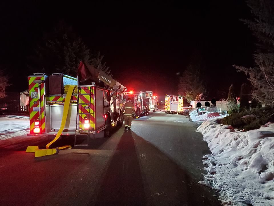Spokane Valley mobile home fire