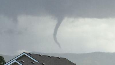 PHOTOS: Cold air funnel cloud visible in Liberty Lake area