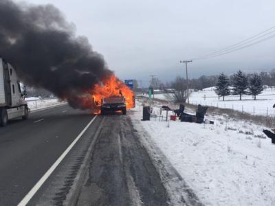 Lanes in Ellensburg reopened after car fire on I-90