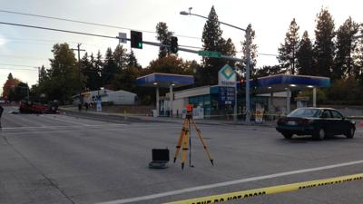 Roll-over accident closes intersection
