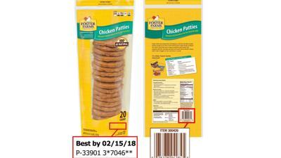 Foster Farms recalls 131,880 lbs frozen chicken patties