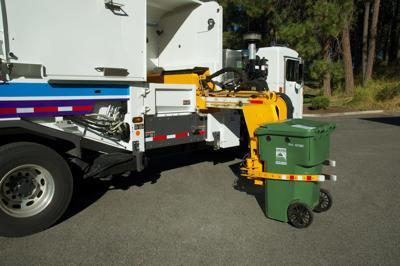 City of Spokane Yard Waste bins