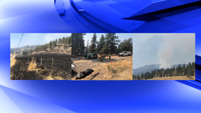 Customs Road Fire near Curlew 15% contained