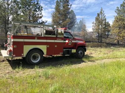 medical lake small brush fire