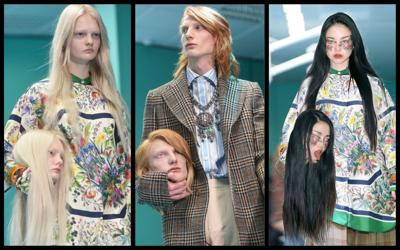 Gucci turns heads for severed head replicas of models on runway