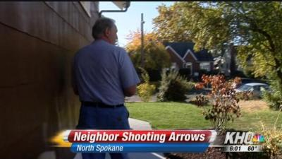 Neighbors upset about bow and arrow shooting