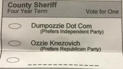 Spokane County Sheriff candidate legally changes name to Dumpozzie Dot Com