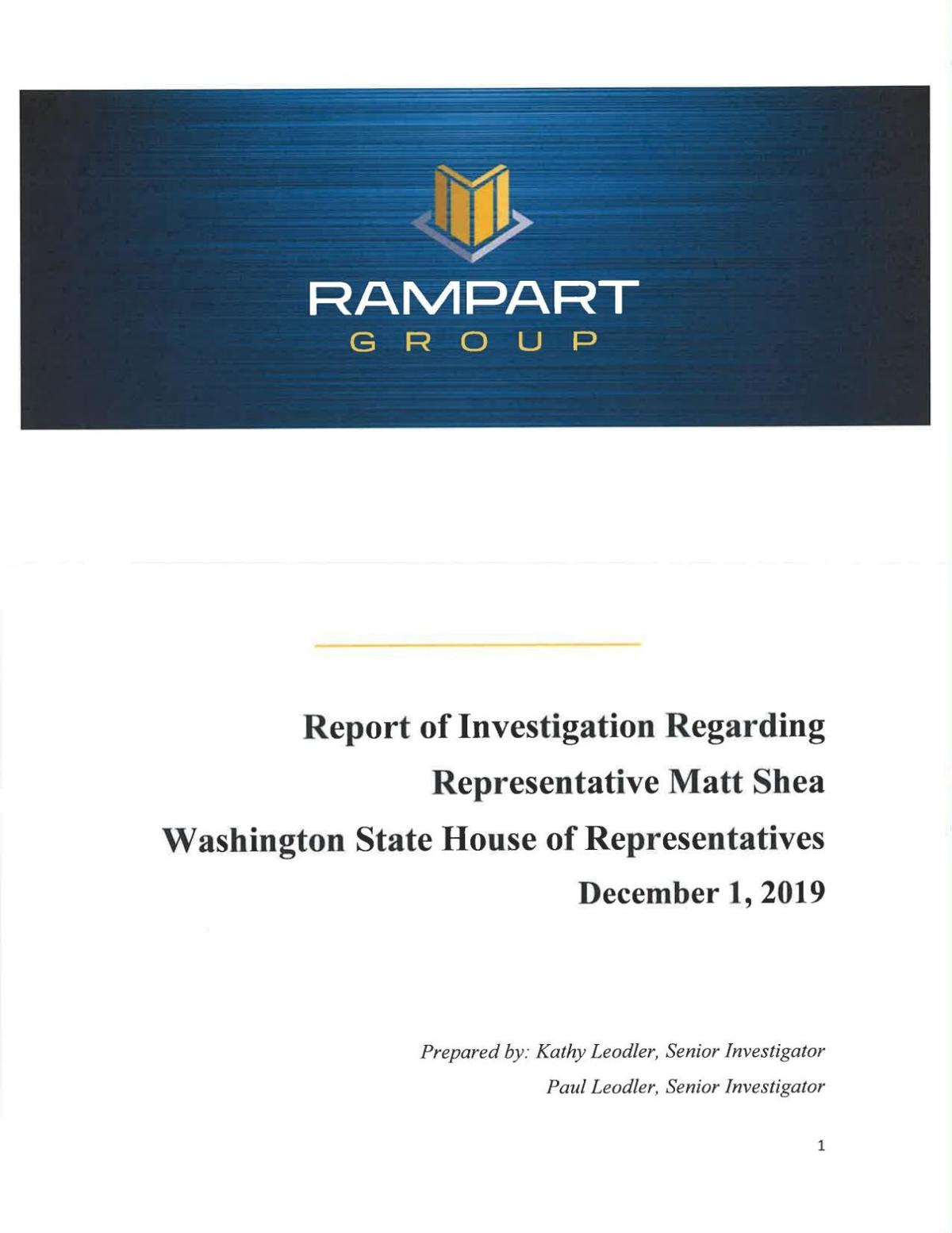 WA House Investigation into Rep. Matt Shea