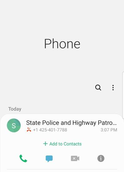 WSP Phone call scam