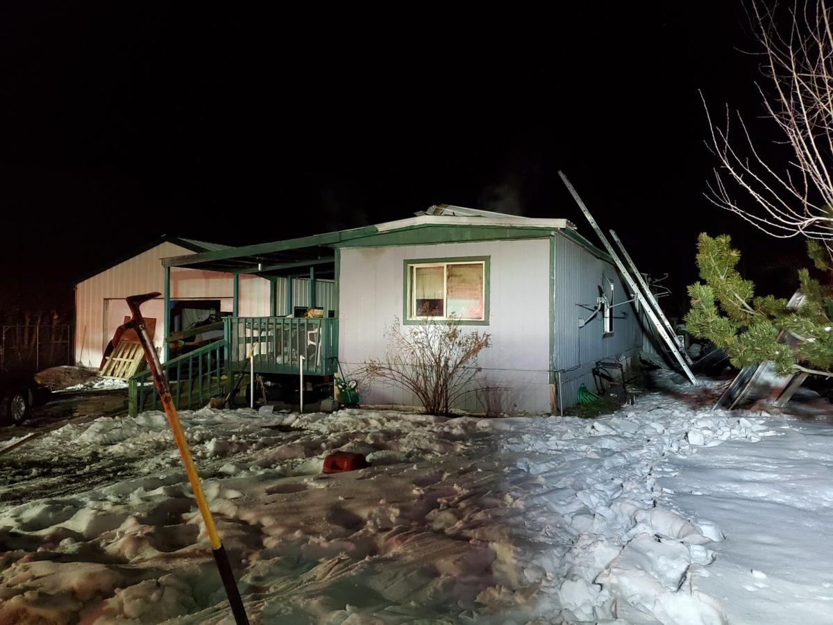 Wednesday night mobile home fire in Spokane Valley