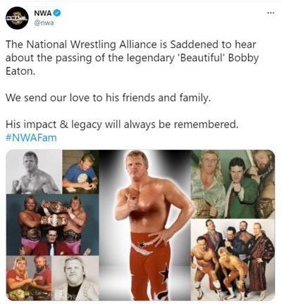 The Midnight Express wrestler 'Beautiful' Bobby Eaton dies at 62