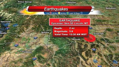 Montana earthquake felt in Spokane, surrounding areas