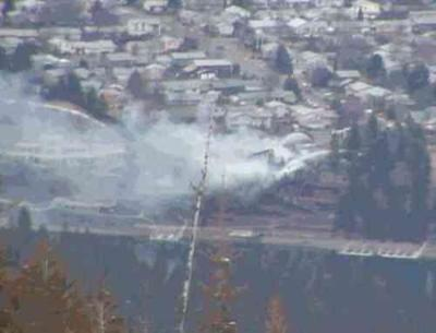 BREAKING NEWS: Firefighters Attacking Big House Fire In Post Falls