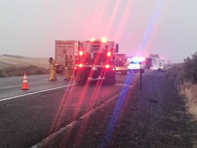 I-90 multiple semi crash 12-3