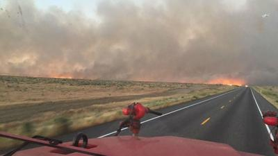 Wildfire burning in Washington near Hanford site