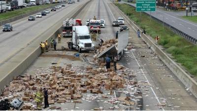 PHOTOS: It's Not Delivery. It's DiGiorno Pizza spilled on interstate