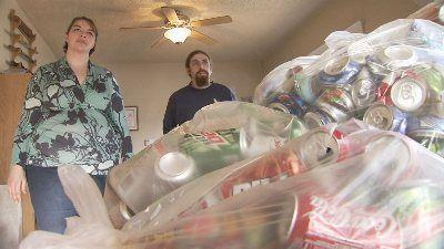 Couple hopes to finance wedding with cans