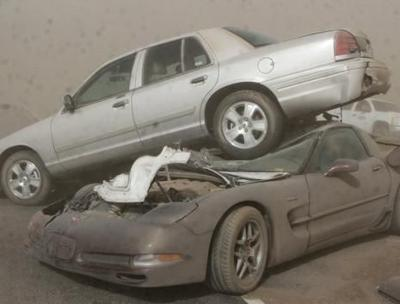 Cars Pile Up In Oklahoma Dust Storm | News | khq com
