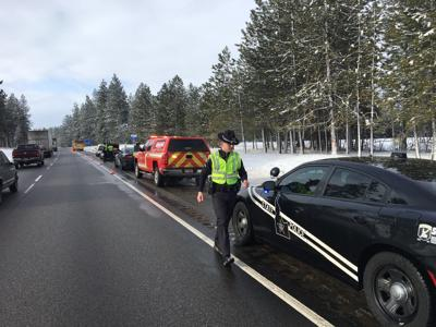 Idaho State Police responding to crash on westbound I-90 near Huetter rest area