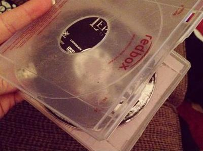 You open up your Redbox rental only to find this...