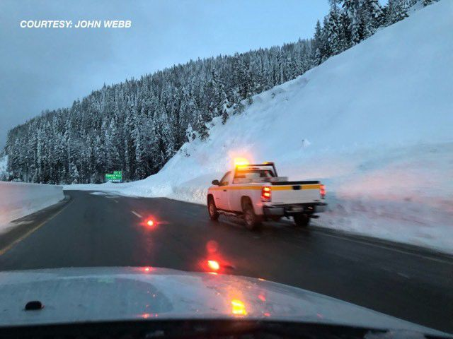 Slide closes right lane of I-90 between east Mullan and Lookout Pass
